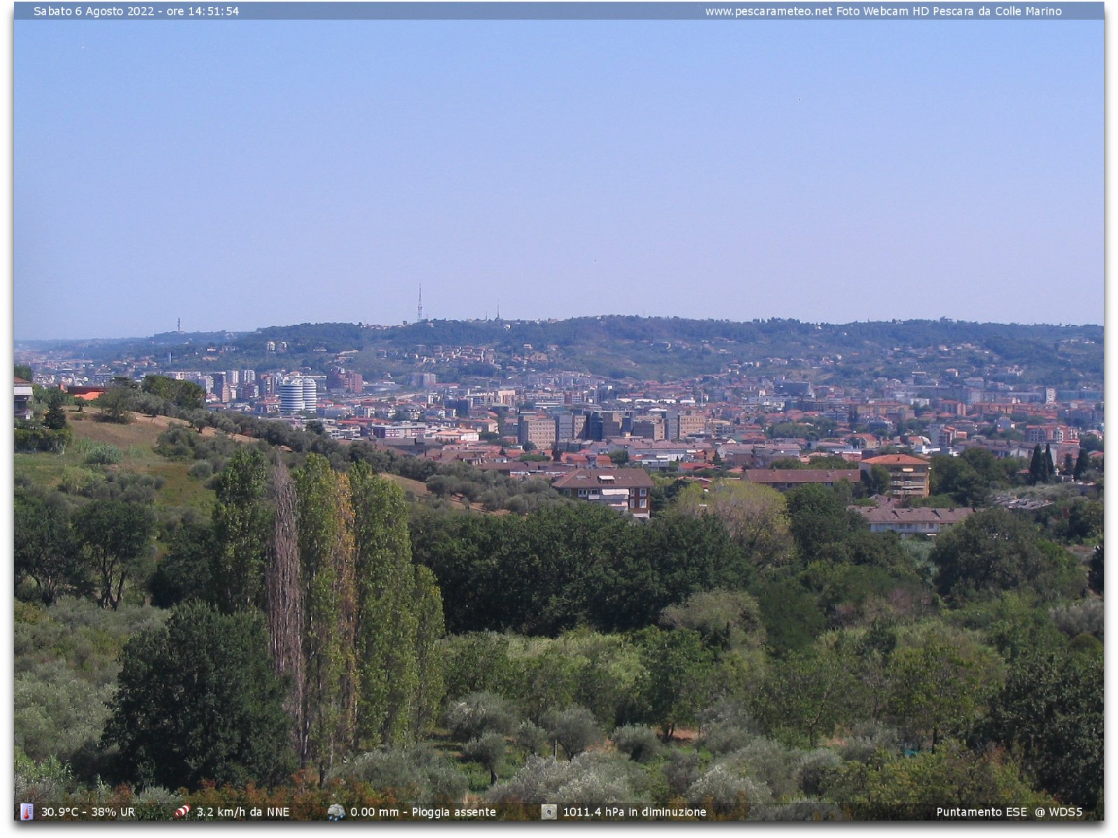 webcam pescara